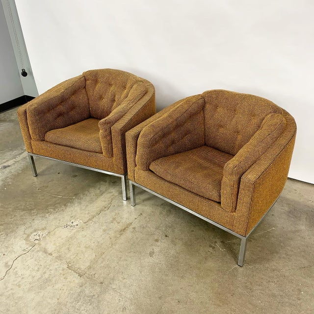 1970s Pair of Modern Club Chairs Designed by Jules Heumann For Sale - Image 5 of 11