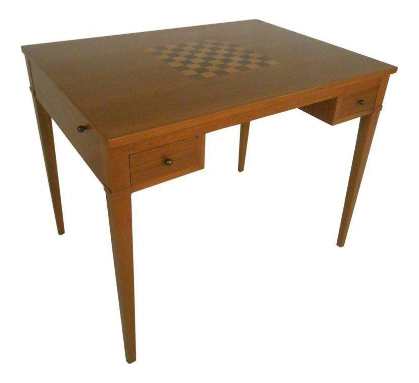 Etonnant Mid Century Modern Danish Teak Flip Top Game Table Or Desk