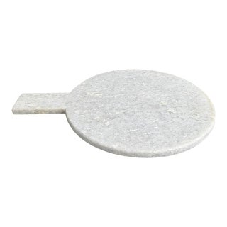 White Marble Charcuterie Cutting Board with Handle For Sale