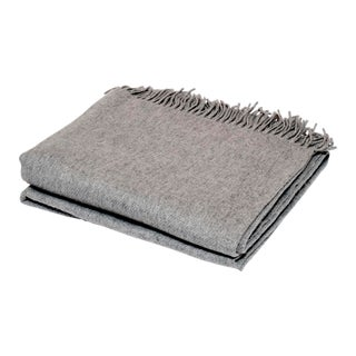 Contemporary Dove Grey Cashmere Collection Throw
