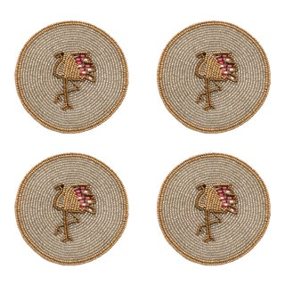Flamingo Coasters, Set of 4 For Sale