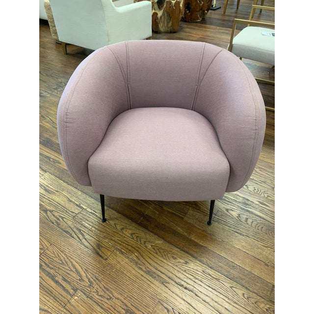 Metal Modern Sepli Lavender Chair For Sale - Image 7 of 7