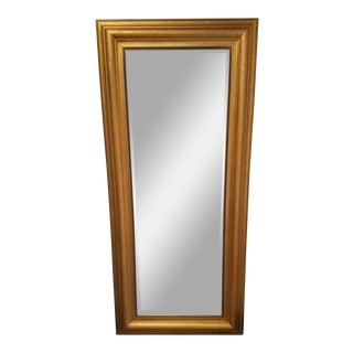 Large Beveled Gold Frame Mirror For Sale