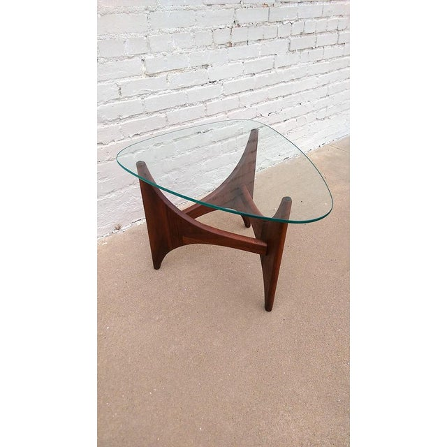 Adrian Pearsall Triangle Walnut Side Table - Image 3 of 6