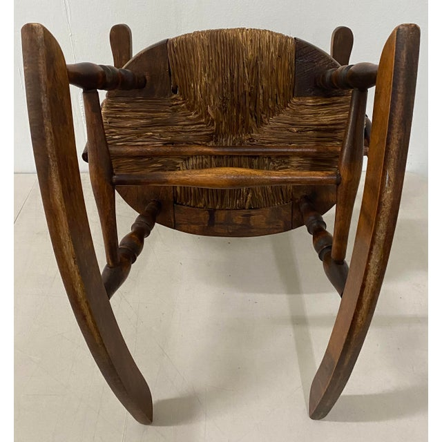 Brown Late 19th Century Childs Windsor Rocking Chair For Sale - Image 8 of 10