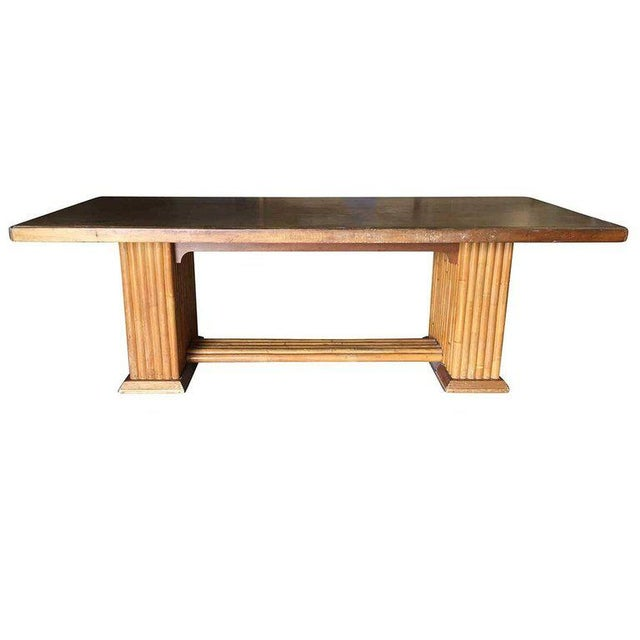 Mid-Century Modern Restored Rare Paul Frankl Dining Room Table and Chairs Set For Sale - Image 3 of 12