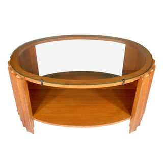 Paul Frankl Attributed Art Deco Oval Coffee Table For Sale