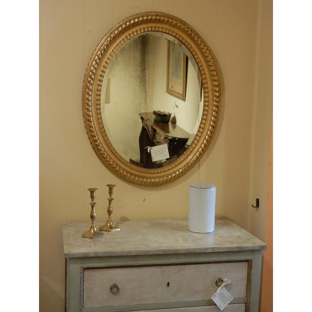 Oval 19th Century Italian Gilt Mirror For Sale In New Orleans - Image 6 of 7