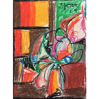 Sean Kratzert 'Venus Flytrap' Oil Pastel Drawing For Sale