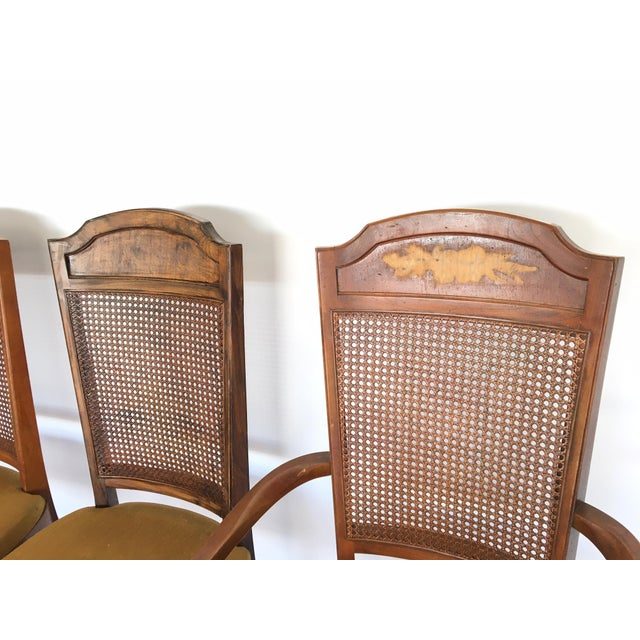 Set of 6 cane back dining chairs by Hibriten for Century Chair Co. Three have been refinished and three have not....