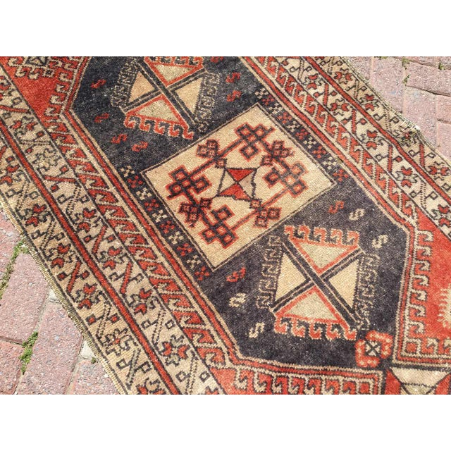 Vintage Hand Knotted Turkish Runner For Sale - Image 5 of 8