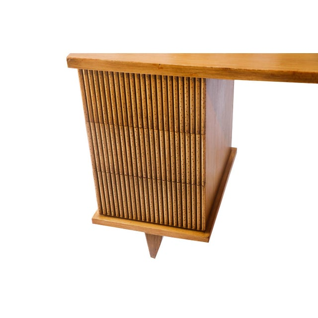 American Of Martinsville Bamboo Desk For Sale - Image 9 of 11