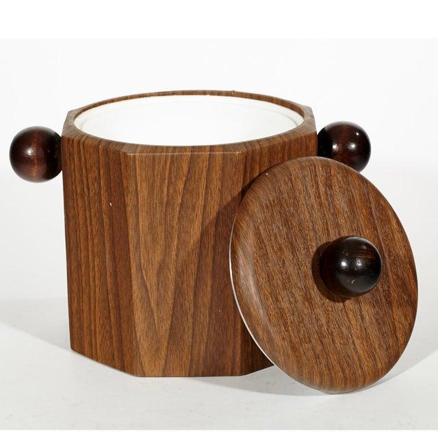 1960's Wood-Grain Ice Bucket - Image 3 of 4