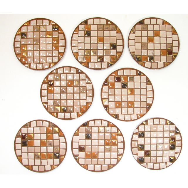 Mid-Century Mosaic Tile Coasters - Set of 8 - Image 2 of 3