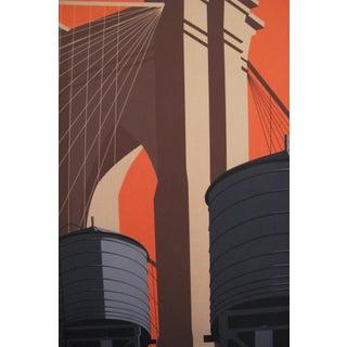 2019 Modern Retro Travel Poster, Brooklyn Bridge Preview