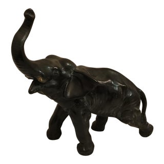 Pot Metal Elephant Statue For Sale