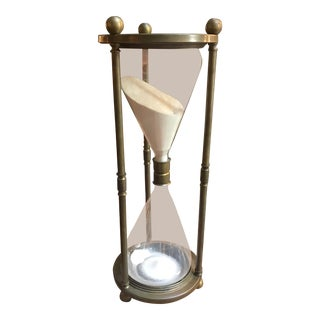 Vintage Mid Century Modern Brass Hourglass For Sale