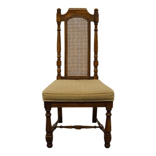 Universal Furniture Italian Provincial Cane Back Dining Side Chair For Sale