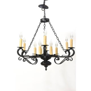 Rustic Wrought Iron Chandelier Preview