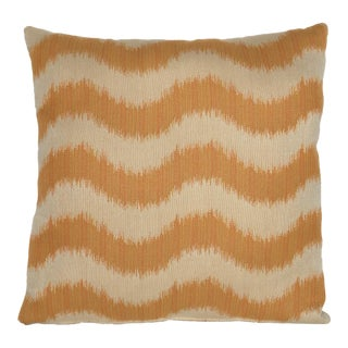 "Boho Chic ""Rumba"" Saffron Fabric Decorative Pillow - 18"""