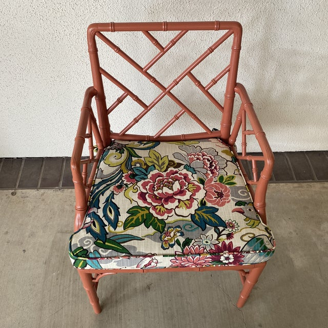 Vintage Chinoisere Chair For Sale In Houston - Image 6 of 8