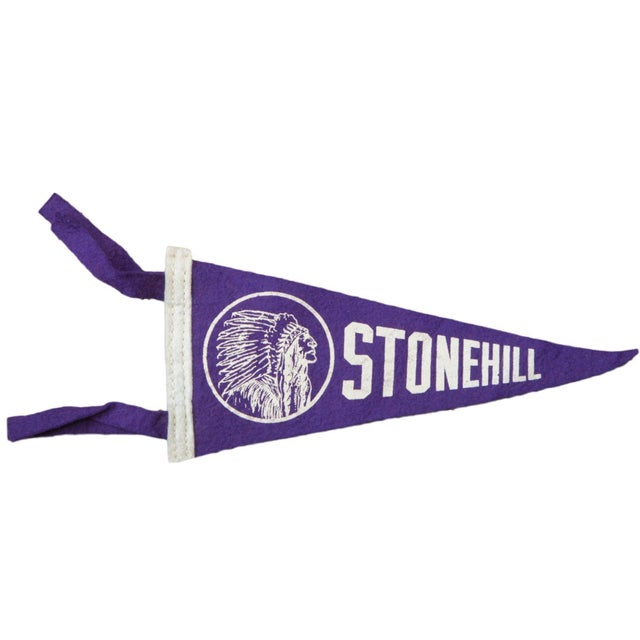Vintage Stonehill Felt Flag Banner For Sale
