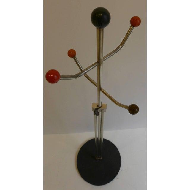 Slender Machine Age Hat Rack or Coat Rack - Image 4 of 10