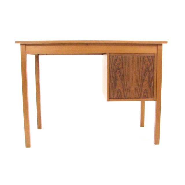 Mid-Century Modern 1960's Vintage Ejsing Møbelfabrik Teak Writing Desk For Sale - Image 3 of 11