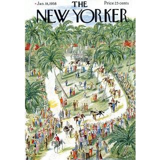 Vintage 1958 New Yorker Cover, January 18 (Constantin Alajalov), Sports, Equestrian For Sale