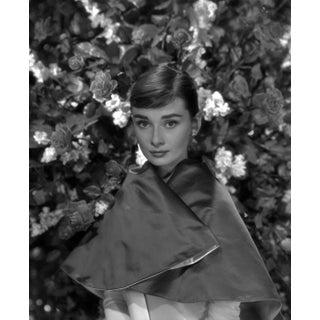 Circa 1957 Audrey Hepburn in Satin by Bud Fraker (11x14 Silver Gelatin Print) For Sale