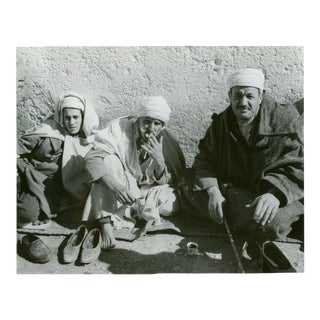 Vintage 1950's Photograph Men Smoking on the Streets of Algiers Algeria For Sale