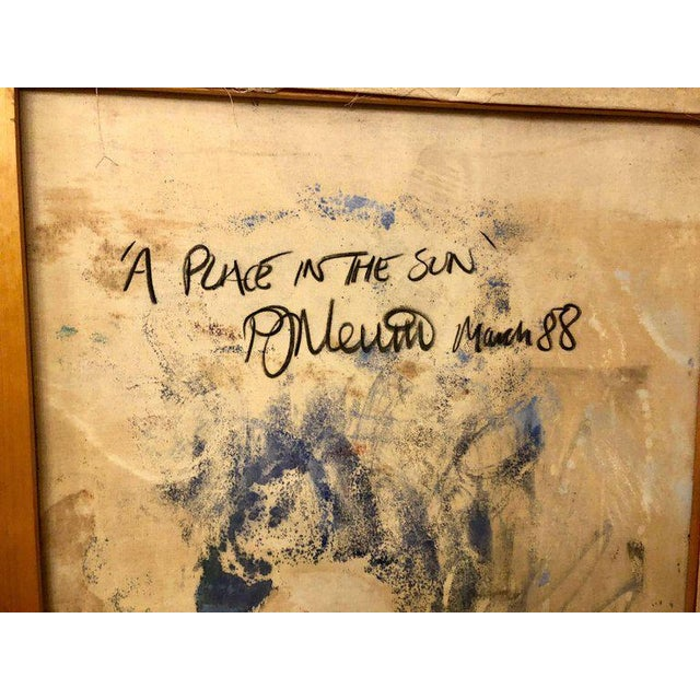 Oil on Canvas Signed and Dated 'A Place in the Sun' by D. Nevins '88 For Sale - Image 9 of 12