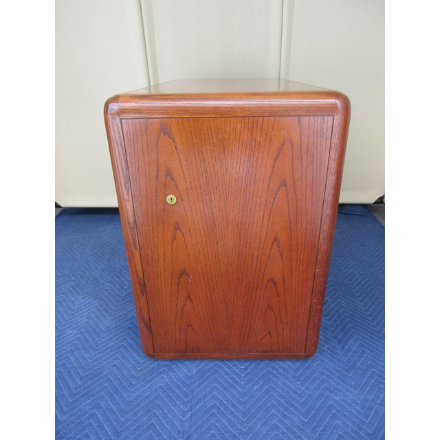 Contemporary Mid-Century Modern 3-Drawer File or Storage Cabinet With Rounded Corners For Sale - Image 3 of 13