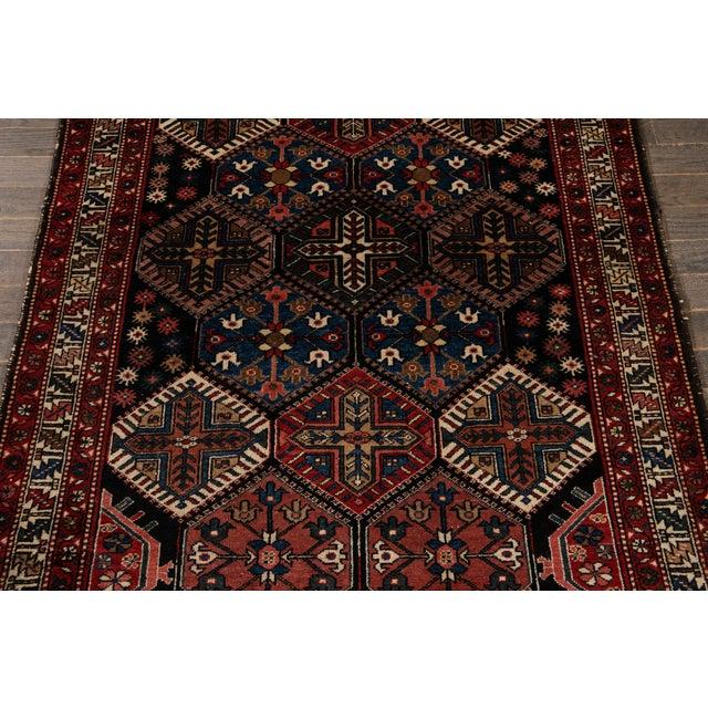 Vintage Bakhtiari Wool Rug 4'4'' X 7'2'' For Sale - Image 9 of 12