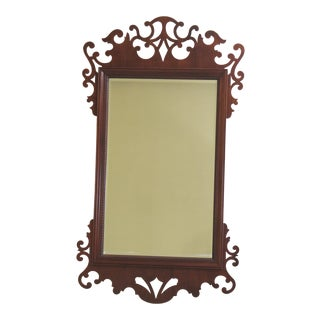 Baker Chippendale Mahogany Wall Mirror For Sale