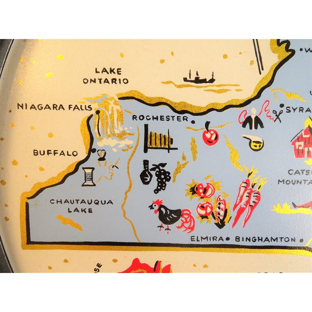 Vintage New York Souvenir Tray For Sale - Image 9 of 11