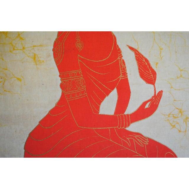 Vintage Batik Art For Sale - Image 4 of 6