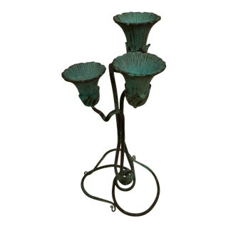 Verdigris Bronze Candelabra For Sale