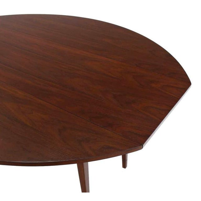 Early 20th Century 20th Century Danish Modern Drop Leaf Walnut Dining Table For Sale - Image 5 of 6