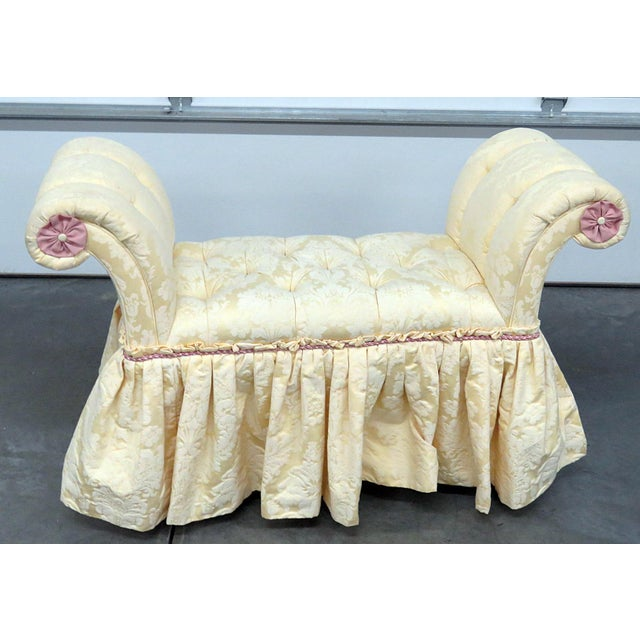 Edward Farrell Regency Style Skirted Bench For Sale - Image 9 of 9