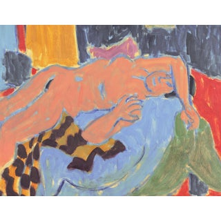 'Reclining Nude in Interior' by Victor Di Gesu, Los Angeles County Museum of Art, California Post-Impressionist, Louvre For Sale
