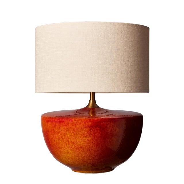 Fuji Ceramic Glaze Table Lamp For Sale In Greensboro - Image 6 of 6