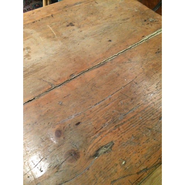Antique Rustic Pine Console Table - Image 4 of 9