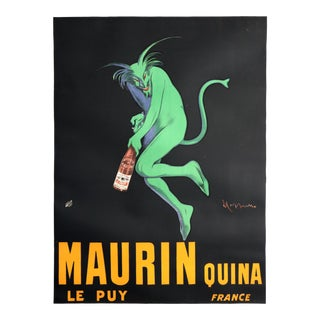 1906 Original Vintage French Poster, Maurin Quina, Green Devil, Absinthe For Sale