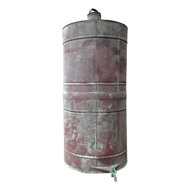 Antique 1880s Naphtha Barrel with Spigot For Sale
