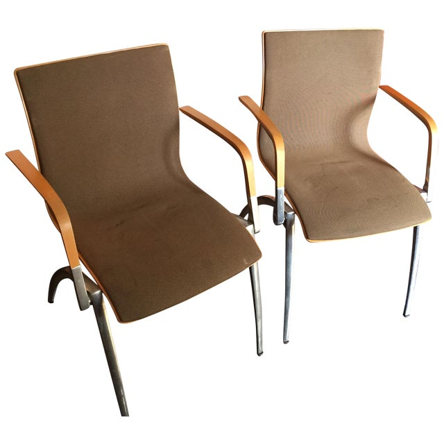 Davis Furniture Industries Brown Chairs - A Pair - Image 1 of 11