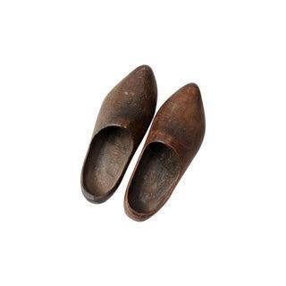 Antique Wood Clogs - Pair