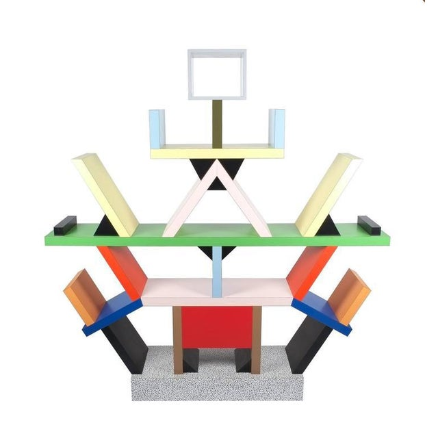 Carlton Bookcase Roomdivider by Ettore Sottsass for Memphis, 1981 For Sale - Image 6 of 6