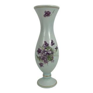1930s Violets Bud Vase For Sale