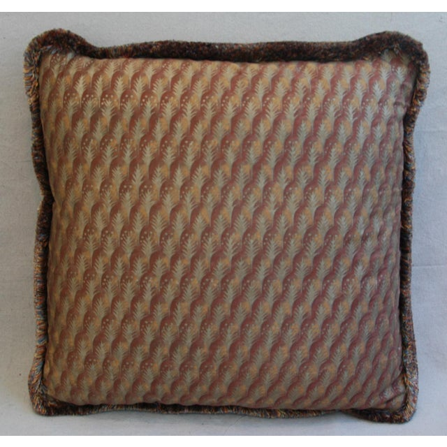 "Fortuny 23"" Custom Tailored Italian Mariano Fortuny Piumette Feather/Down Pillows - Pair For Sale - Image 4 of 11"